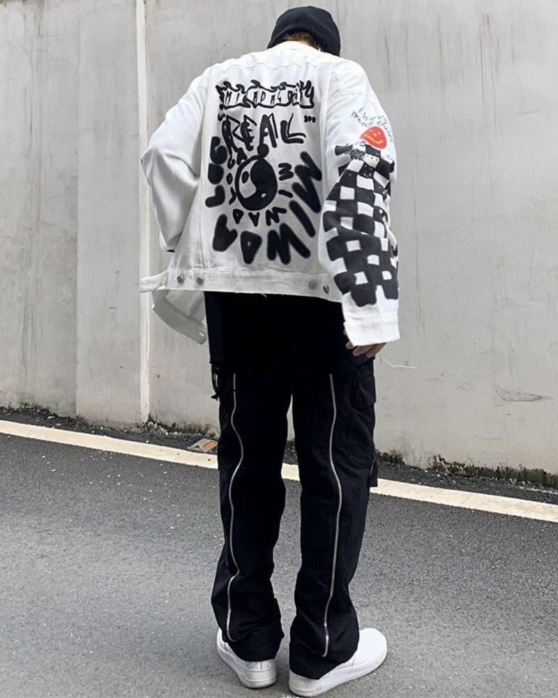 グラフィティペイントデニムシャツジャケットの画像2